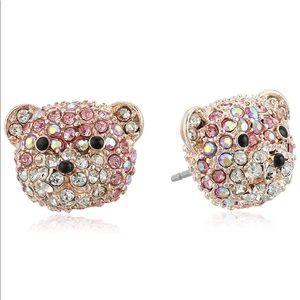 Betsey Johnson Pink Teddy Bear Earrings